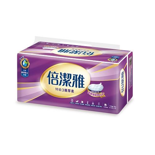 倍潔雅特級3層 衛生紙110抽60包